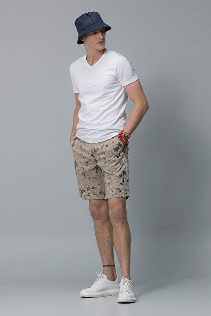 Lufian Erkek Geras Basic T- Shirt Beyaz 111020008100500