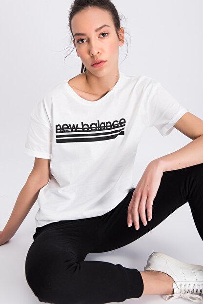 New Balance Kadın T-shirt - V-WTT801-WT
