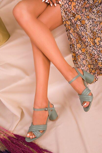Soho Exclusive Yeşil Kadın Klasik Topuklu Ayakkabı 16098