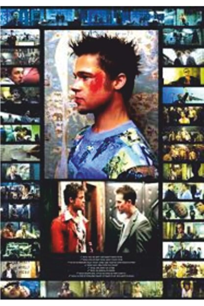 Hayat Poster Fight Club Dövüş Klübü Sinema Retro Vintage 70 Cm X 100 Dev Kuşe Poster (silindir Kolili Kargo Ile)