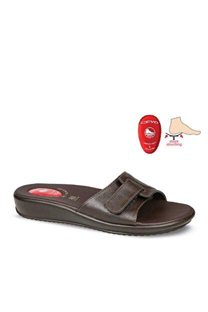 Ceyo , 9200-12, Kemik Çıkıntısı - Topuk Dikeni, Kadın Terlik, Kahverengi