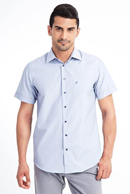 Kiğılı Kısa Kol Regular Fit Çizgili Gömlek