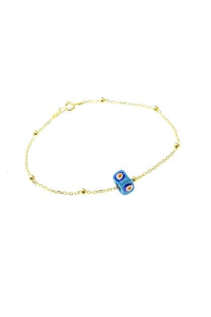 Söğütlü Silver Kadın Gümüş Mineli Turkuaz Taşlı Top Top Bileklik SGTL8519-SARI