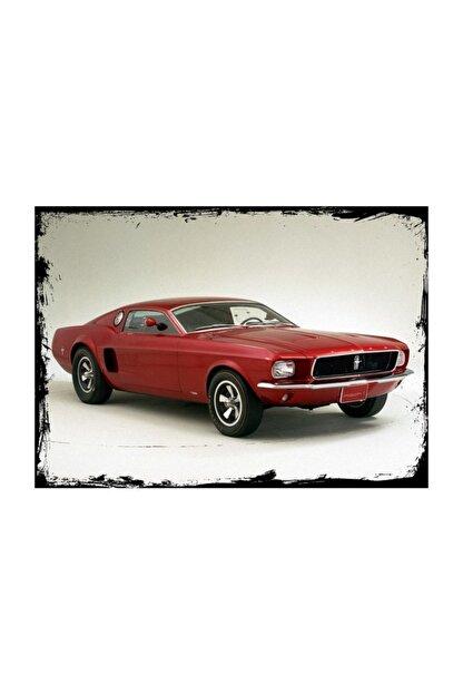 Cakatablo 50cmX70cm Ahşap Tablo Ford Mustang 1964