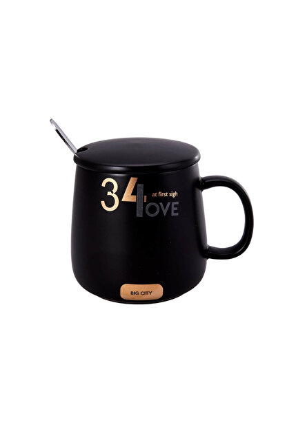 Karaca Love Siyah Küçük Kahve Mug