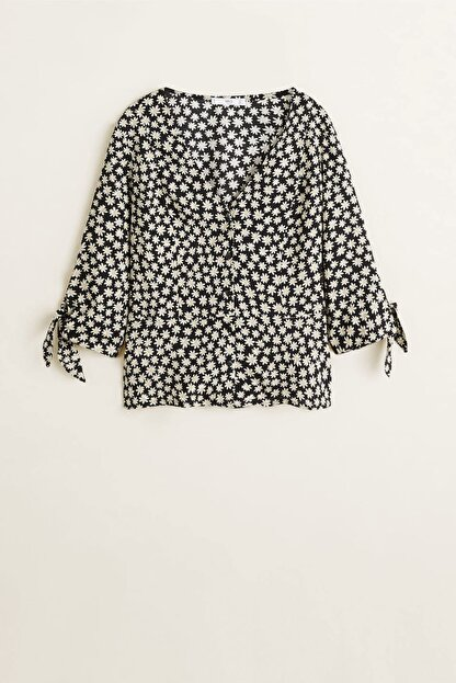 Mango Kadın Siyah Çiçekli Bluz 43035822
