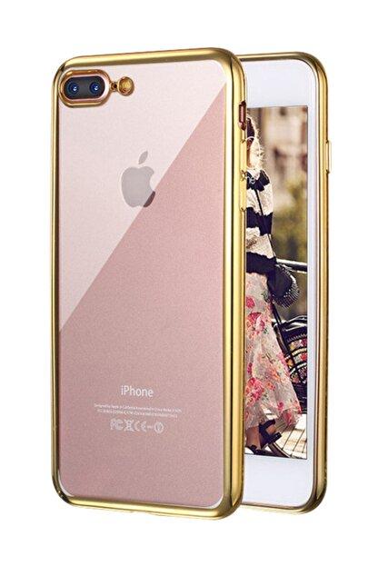 Microsonic Apple iPhone 8 Plus Kılıf Flexi Delux Gold