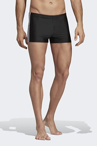 adidas Erkek Siyah Yüzücü Mayo Fıt Boxer 3S DP7533