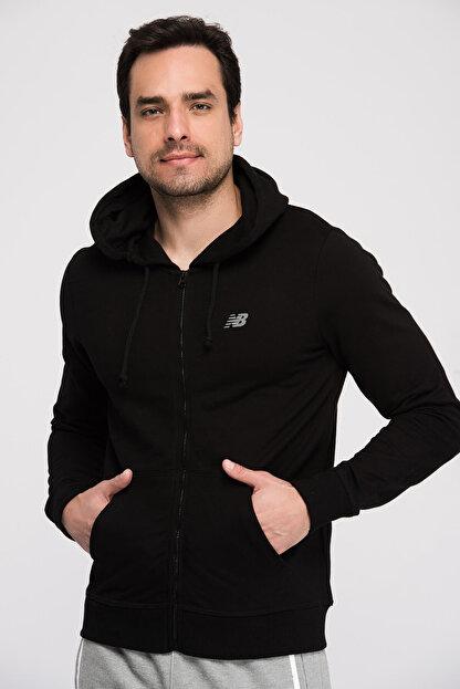 New Balance Erkek Sweatshirt-  V-MTJ805-BK