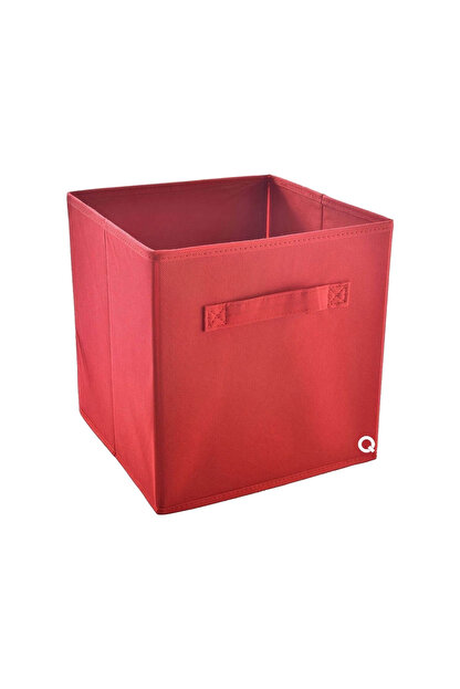 Rani Mobilya Rani Q1 Medium Çok Amaçlı Dolap Içi Düzenleyici Kutu Dekoratif Saklama Kutusu Raf Organizer Kırmızı
