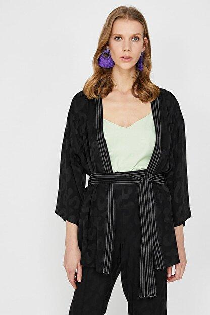 Koton Kadın Siyah Ceket 9YAK52061UW