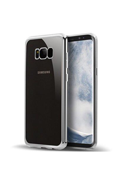 Microsonic Samsung Galaxy S8 Plus Kılıf Flexi Delux Gümüş