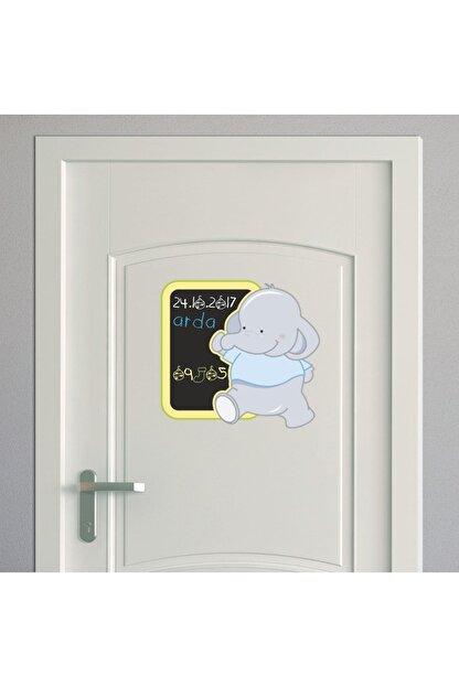Dekor Loft Mavi Fil Yazılabilir Kapı ve Dolap Sticker