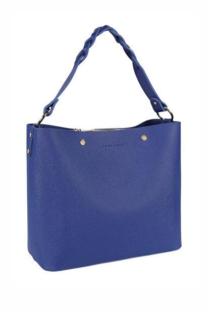 Laura Ashley Kadın Örgü Askılı Baget Çanta Saks Mavi