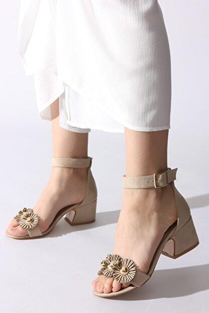 Rovigo Bej Kadın Klasik Topuklu Ayakkabı 11110389376-03
