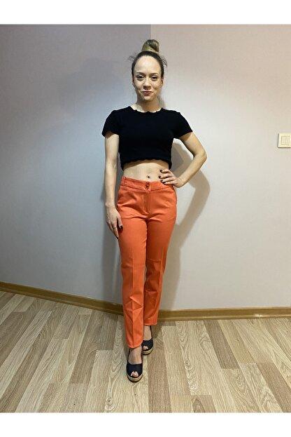 MAGA STORE Turuncu Kadın Kumaş Pantolon