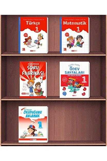 Kırmızı Beyaz Yayınları 1. Sınıf 2. Dönem Süper Set 5 Kitap 2021