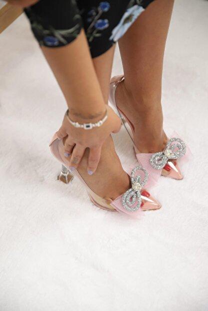 SHOEBELLAS She Pembe Kadın Topuklu Ayakkabı