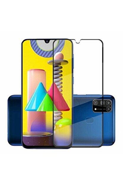 Soffany Samsung Galaxy M51 Kavisli Full Kaplayan Polikarbon 360 Cover Kırılmaz Cam