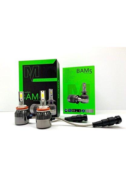 modifiyebudur Mach Bam5 Pro H11 Led Xenon Şimşek Etkili Beyaz - 6400 Lm 6000k