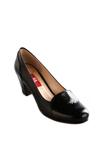 Dgn Siyah Rugan Siyah Kadın Klasik Topuklu Ayakkabı 258-148