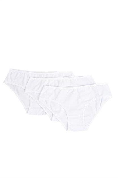 Penti 3'lü Paket Beyaz Kadın Cover Slip Külot PLCOVR3S12SK