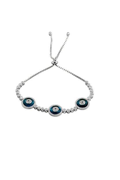 Söğütlü Silver Kadın Su Yolu Asansörlü Göz Bileklik SGTL7512