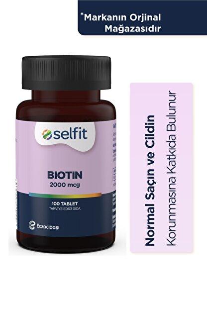Eczacıbaşı Selfit Biotin 2000 Mcg 100 Tablet - Son Kullanma Tarihi: 01.2023