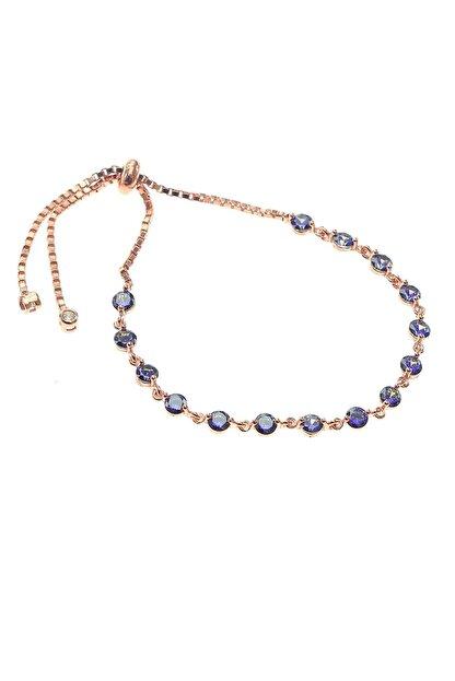 Söğütlü Silver Kadın Gümüş Mavi Mistik Topaz Taşlı Bileklik SGTL8522