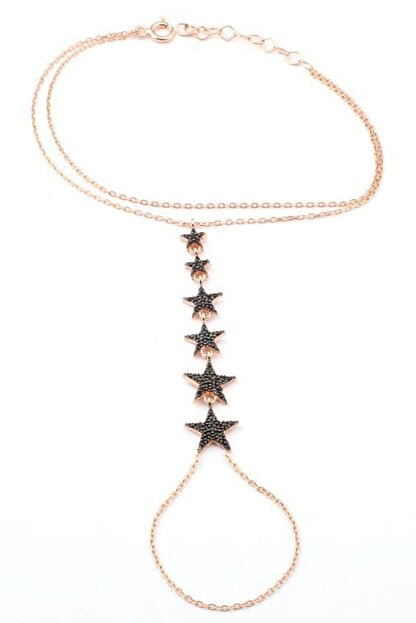 Welch Kadın 6 Yıldızlı Rose Gümüş Şahmeran Bileklik WB-115