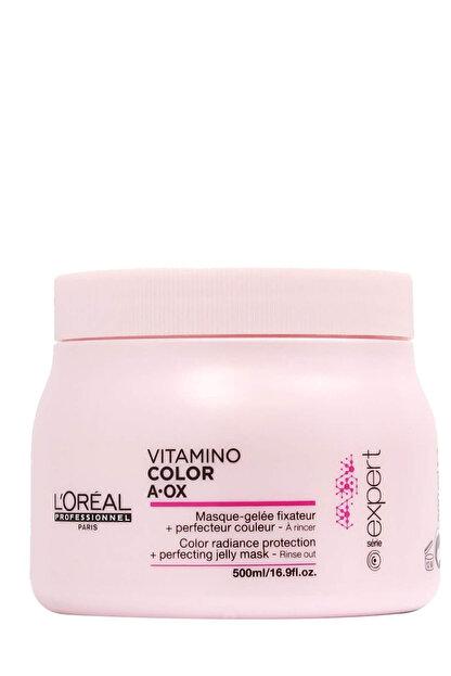 L'oreal Professionnel Boyalı Saçlar için Renk Koruyucu Saç Maskesi - Vitamino Color 500 ml 3474630714861