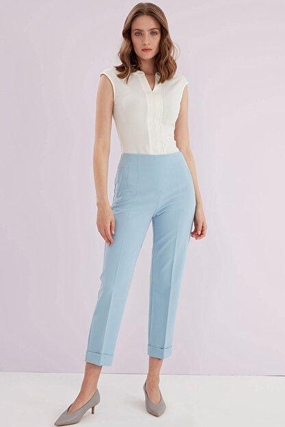 Journey Kadın Mavi Ön Pens Detaylı Pantolon