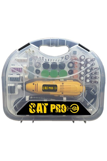 Catfiller Cat Pro + Tam Profesyonel 300 Watt Spiral Uzatmalı 300 Parça Gravür Oyma Seti