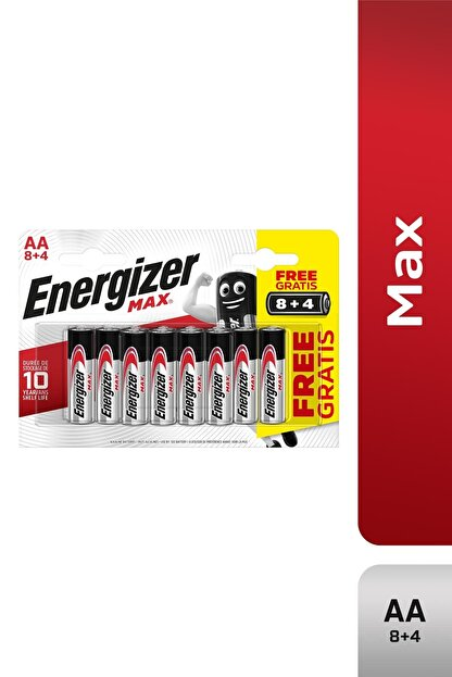 Energizer Alkalin Max Aa Kalem Pil 8+4