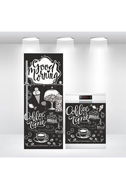 Bigaimaj Buzdolabı Ve Bulaşık Makinesi Coffee Time Kapak Folyo Kaplama