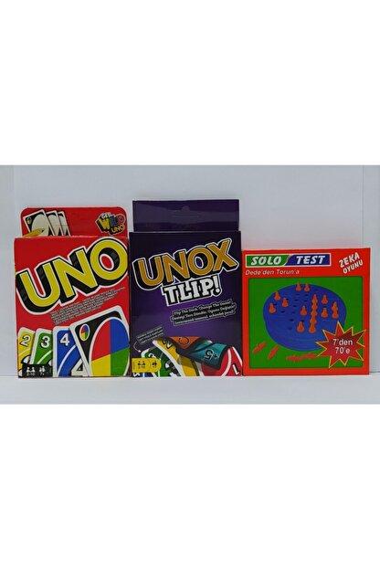 Brother Toys Uno - Unox Tlip Oyun Kartları Ve Solo Test Zeka Testi 3'lü Oyun Seti