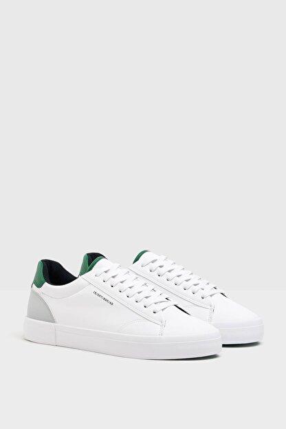 Bershka Erkek Beyaz Topuğu Renkli Detaylı Spor Ayakkabı