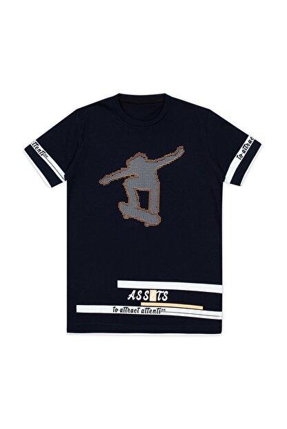 Le Ville Baskılı Bisiklet Yaka T Shirt Erkek Çocuk T SHİRT 57762611