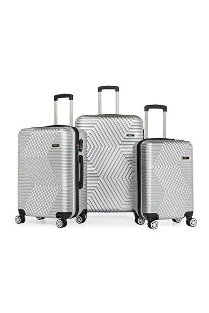 SERAMİKCİ Gümüş 3'lü Valiz Set