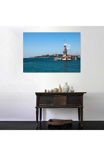 Simli Kanvas Manzara Kanvas Tablo 120x80 cm