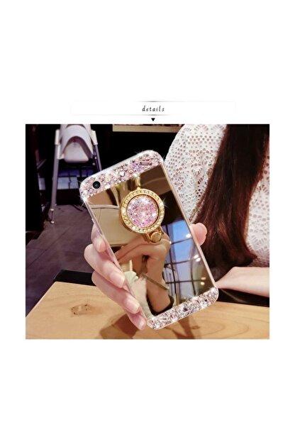 Ksyaccessories Iphone 8 Plus Aynalı Ve Taşlı Selfie Yüzüklü Telefon Kılıfı