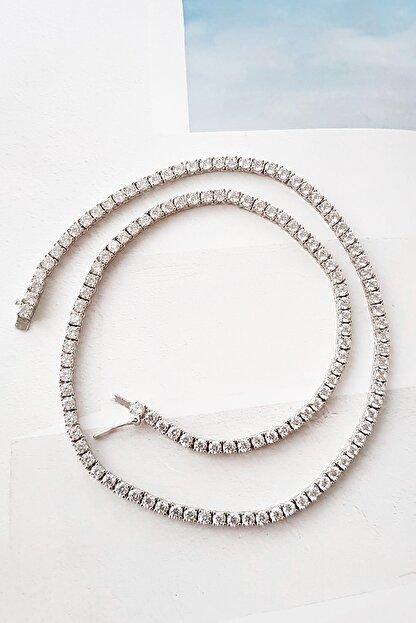MorMajor Silver 3.3 Mm Su Yolu Taşlı Gümüş Kolye