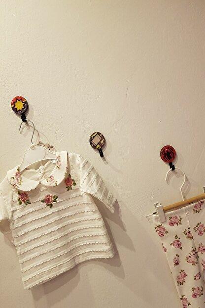 Cantaz Kız Bebek Beyaz Çiçekli İkili Takım