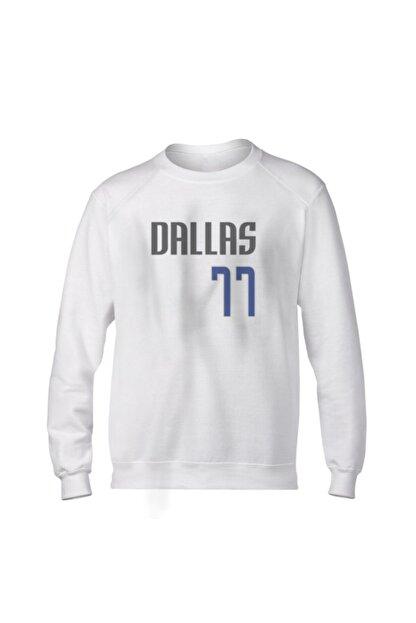 Fanatico Unisex Beyaz Dallas Luka Don?i? Basic Sweatshirt