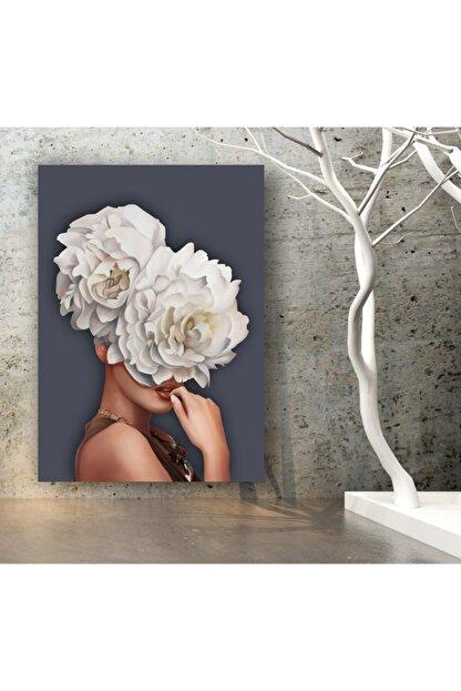kanvasnes Çiçek Saçlı Kadın Dekoratif Kanvas Tablo