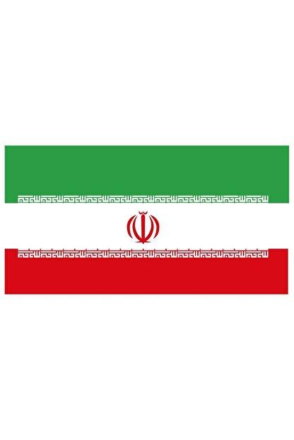 Sticker Fabrikası Iran Bayrağı Sticker 00704 13x7,5 Cm