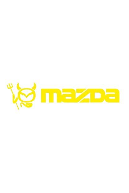 Sticker Fabrikası Mazda Logo Şeytan Sticker 00685 22x5,5 Cm