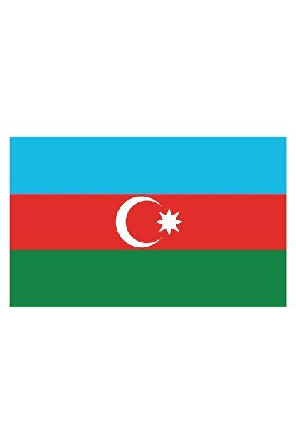 Sticker Fabrikası Azerbaycan Bayrağı Sticker 00702 9x5 Cm