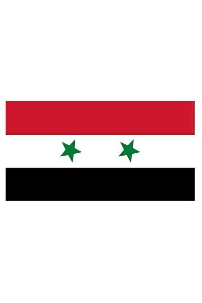 Sticker Fabrikası Suriye Bayrağı Sticker 00715 13x7,5 Cm
