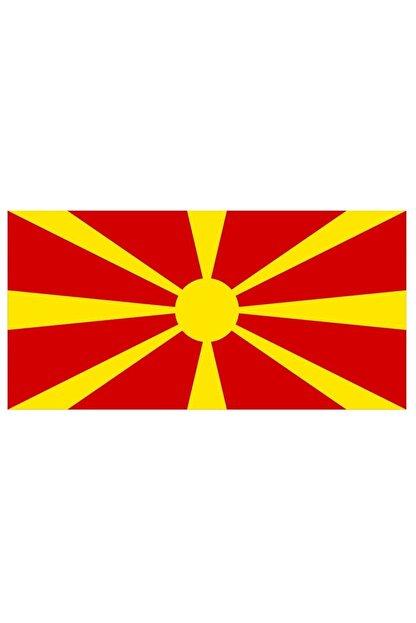 Sticker Fabrikası Makedonya Makedon Bayrağı Sticker 00722 13x7,5 Cm